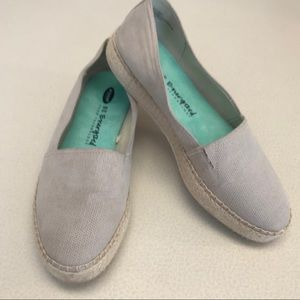 Dr. Scholl's Taupe Suede Slip-On Espadrille-8.5